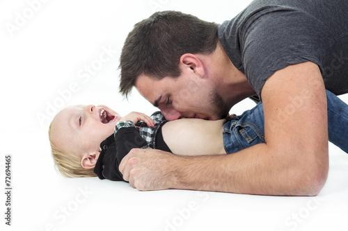 Fényképezés  Father son play
