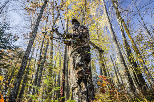 Poster Chasse bow hunter standing