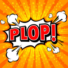 Plop! Comic Expression Vector Text