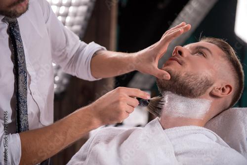 Obraz na plátně  professional  hairdressing salon