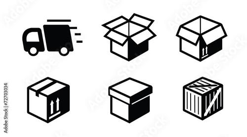 Obraz shipping icon - fototapety do salonu