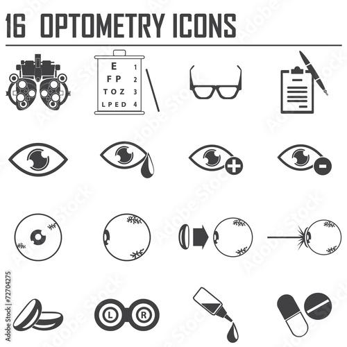 Fotografía  16 optometry icons