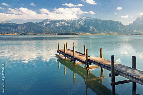 Jesień nad jeziorem - Alpy