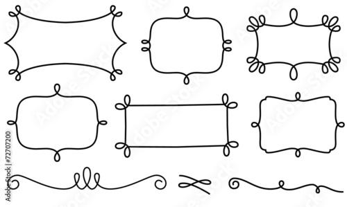 Fotografie, Obraz  Set of decorative frames and design elements