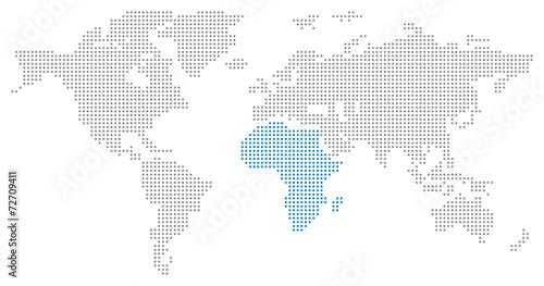 Dotted World Map - Africa – kaufen Sie diese Illustration und finden ...
