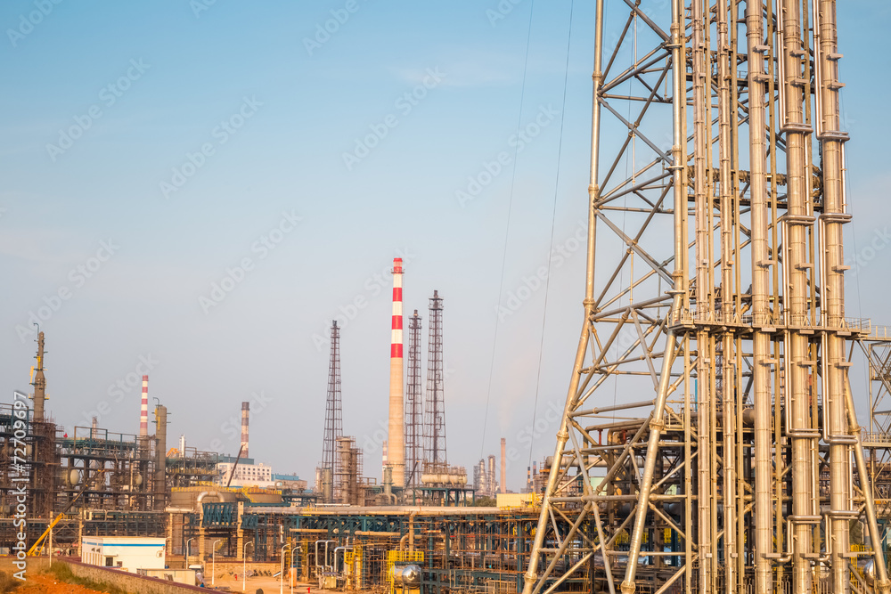 Photo & Art Print expansion of the petrochemical plant