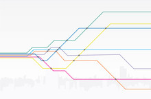Colorful Map Of Subway Lines