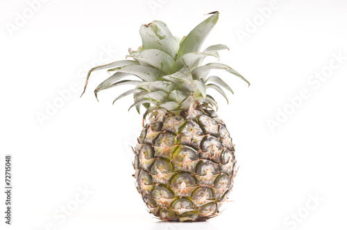Fototapety, obrazy: Pineapple on white background