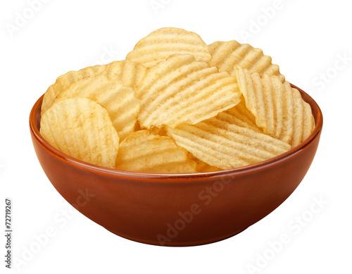 Fotografie, Obraz  Wavy Chips in a Bowl