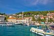 Famous Hvar palm waterfront view