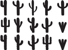 Cactus Silhouettes Illustrated...