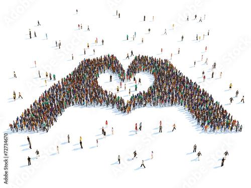 Fotografía  illustration of hands depicting the heart