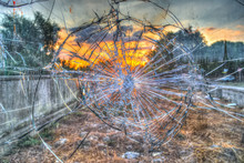Broken Glass By The Street At ...