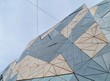 Modern architecture on Federation square in Melbourne