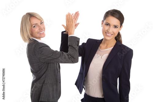 Fotografía  Business Team: Erfolgreiche Geschäftsfrauen klatschen Hände