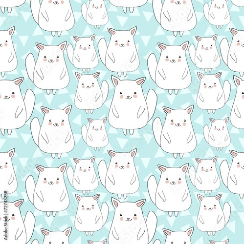 pattern with cute cat