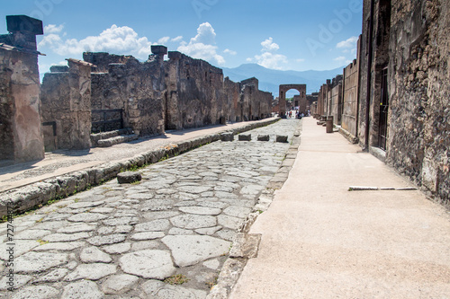 Spoed Foto op Canvas Rudnes Ruins of ancient city Pompeii