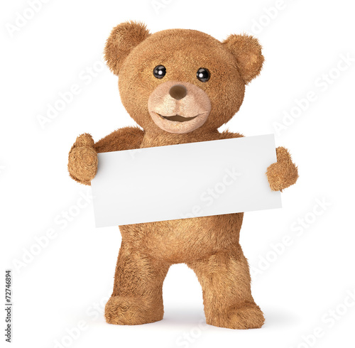 teddy with empty card #72746894