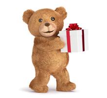 Teddy Bear With A Gift Box