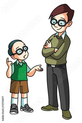 In de dag Kinderkamer Student asking teacher
