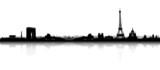 Fototapeta Fototapety Paryż - Paris Skyline Silhouette