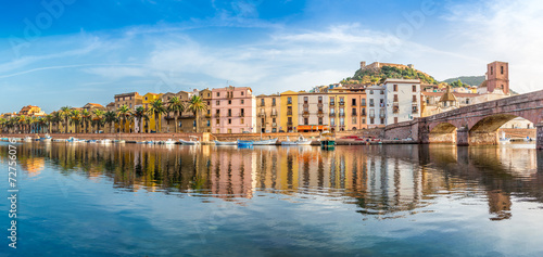Panoramic view at the Bosa in Sardinia