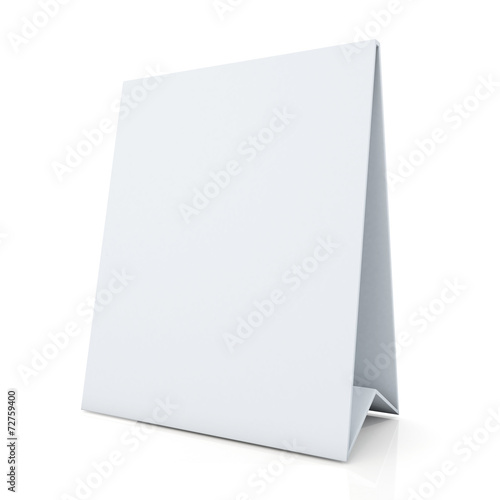 clean white papers carton desk display in isolated background Canvas-taulu