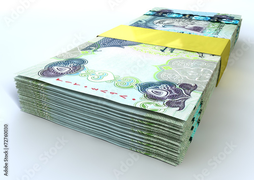 Photo  Stack Dirham Bank Notes