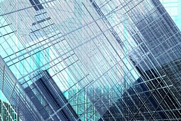 Panel Szklany Architektura Glowing technological background
