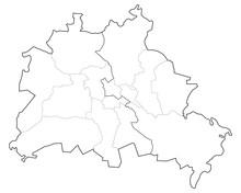 Verlauf Der Berliner Mauer Inkl. Berliner Bezirke