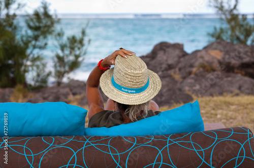 Fototapety, obrazy: moment de détente au bord de la mer à Rodrigues