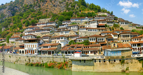 Old town Berat, Albania, World Heritage Site by UNESCO Canvas Print