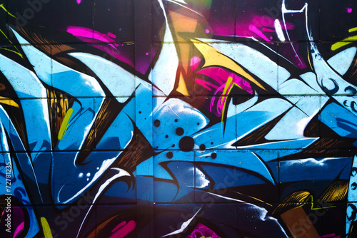 Spoed Foto op Canvas Graffiti Street art graffiti