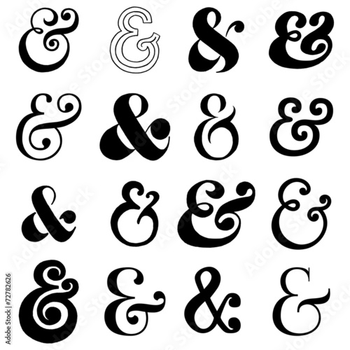 Photo  Hand Drawn Ampersands