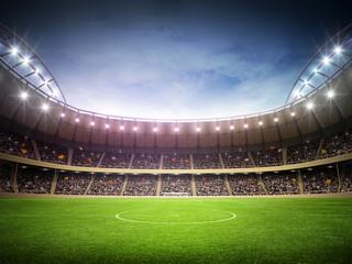 Fototapeta stadion piłkarski nocą