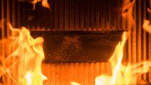 Flame In A Wood Burner