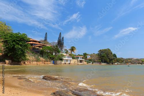 Fotografiet  Coastline, sea, beach in Buzios,  Rio de Janeiro, Brazil