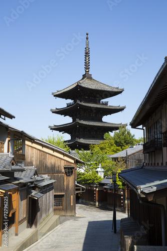 京都東山区の八坂の塔