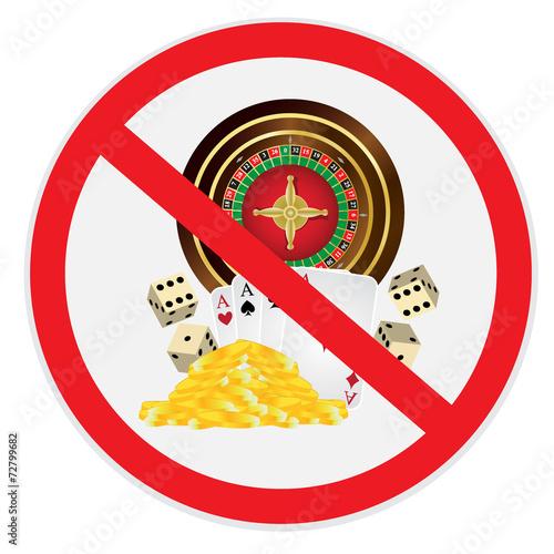 фотография  Gambling, not, allowed, forbidden, sign