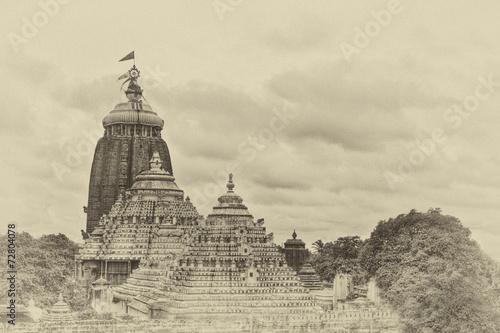 Fotografie, Tablou The Temple of Jagannatha in Puri