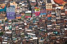 Biggest Slum Rocinha, Poor Living Area In Rio De Janeiro