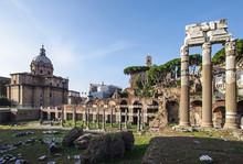 Foro Romano Roman Forum Ruins In The Center Of Rome Italy