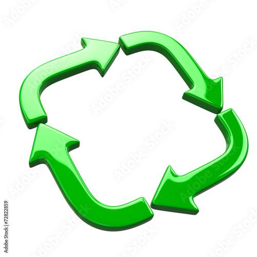 Fototapeta Green recycle icon obraz na płótnie