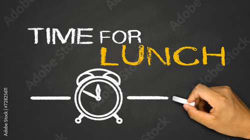 time for lunch Wallpaper Mural