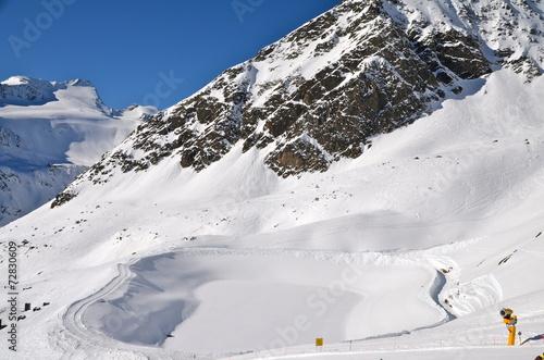 Alpine ski resort in Sölden in Otztal Alps, Tirol, Austria #72830609