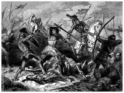 Photo  Battle of Agincourt - Azincourt - year 1415
