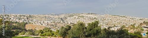 Fotografie, Obraz Panorama the old city Jerusalem