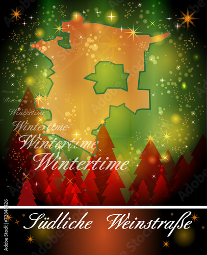 Karte Von Suedliche Weinstrasse Buy This Stock Vector And