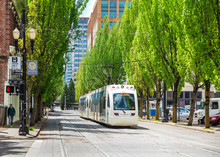 Light Train Of The Portland Streetcar System