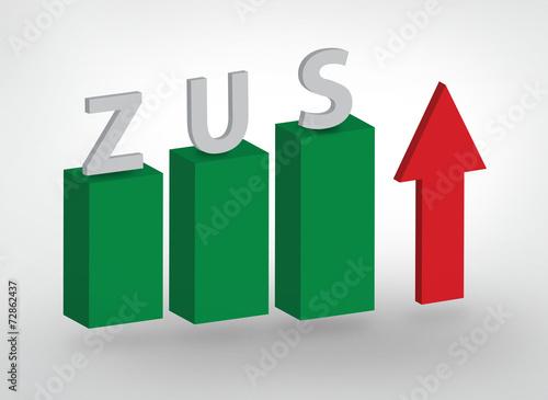 Fotografie, Obraz  zus, składka, ubezpieczenie, biznes, polska